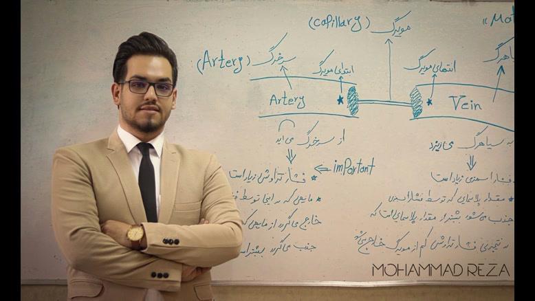 تدریس نوار قلب توسط آقای محمدرضا اولیایی دانشجوی دانشگاه علوم پزشکی