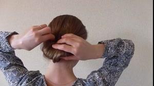 کلیپ خودآرایی مو  مدل صدفی + شینیون ساده