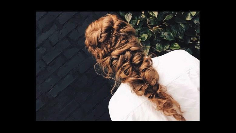 فیلم آموزش بافتن مو عروس + بافت مو مدل باز