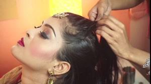 کلیپ شینیون مو با بافت مدل هندی + شینیون عروس