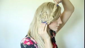 کلیپ بافت مو  یکطرفه به شکل گل