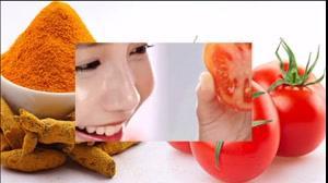 فیلم آموزش تهیه  ماسک گوجه و زرد چوبه + سفید کننده پوست طبیعی
