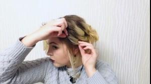 فیلم شینیون مو کوتاه در خانه +  آموزش خود آرایی مو