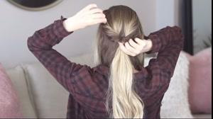 کلیپ بستن مو مدل باز با خدمات بافت مو