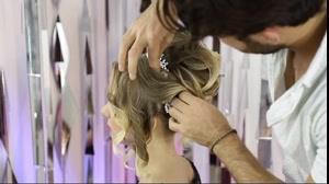 فیلم آموزش شینیون شلوغ موی عروس + سالن آرامیس مد
