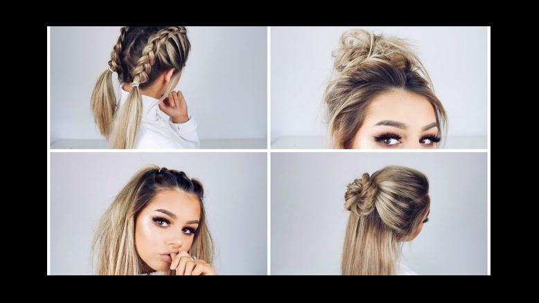 فیلم آموزش چند روش ساده برای بستن مو  دخترانه