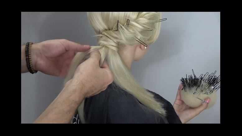 فیلم آموزش شینیون خطی مو + شینیون مو بلند