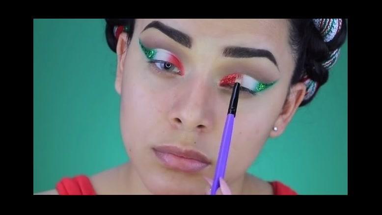 فیلم آموزش آرایش چشم با سایه اکلیلی + سایه چشم  مدل پرچم