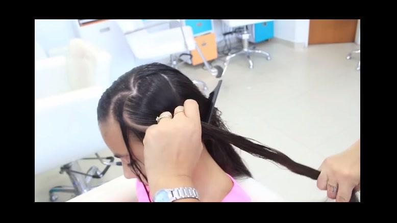 کلیپ  جدیدترین روش بافت مو دخترانه + بافت مو قلبی