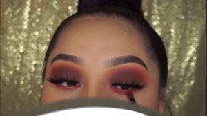 فیلم آموزش آرایش چشم  دودی+  نصب مژه مصنوعی