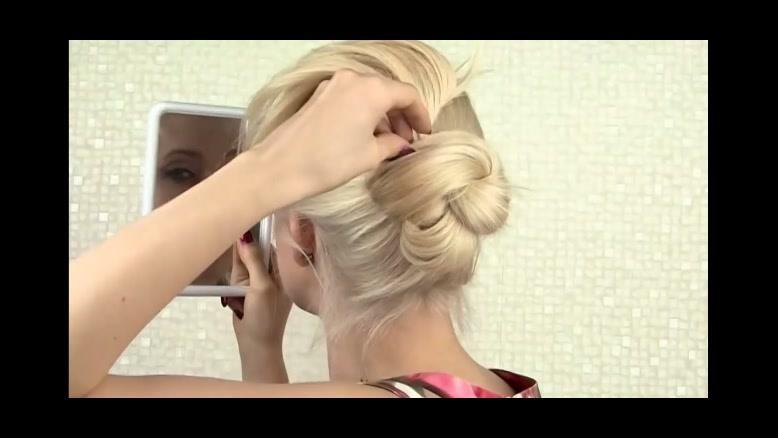 کلیپ شینیون ساده مو در خانه +خودآرایی زیبا مو