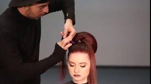 فیلم آموزش شینیون مو مجلسی با اکستنشن مو رنگی