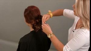 فیلم آموزش یک شینیون مو فوق العاده ساده با بافت مو