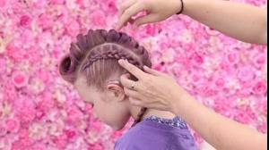 فیلم آموزش شینیون مو دخترانه + بافت مو هلندی