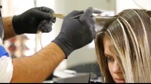 کلیپ هایلایت کردن مو + رنگ مو روشن