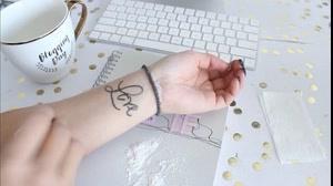 کلیپ آموزش تاتو ضد آب روی دست + تاتو موقت
