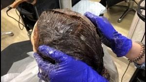 کلیپ جدید ترین مدل رنگ کردن مو با فویل + رنگ مو قهوه ای