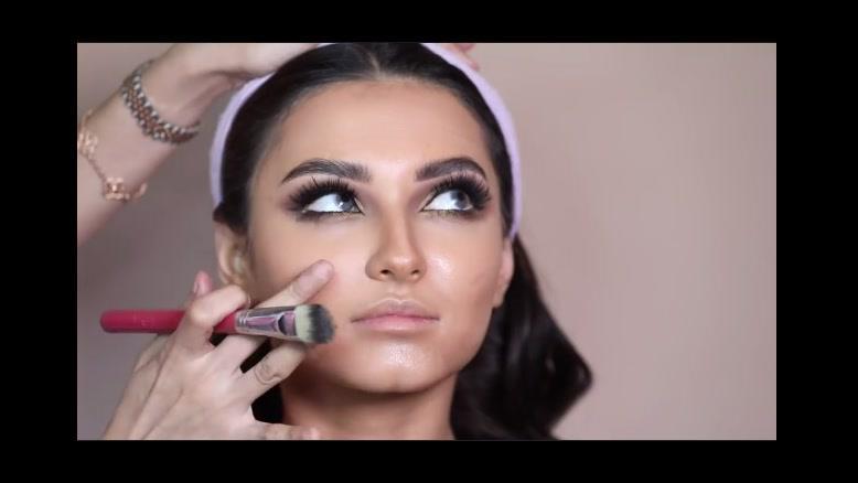 کلیپ آموزش میکاپ حرفه ای دخترانه + آرایش صورت زیبا