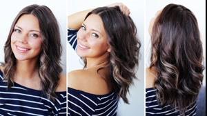 فیلم آموزش خودآرایی مو  + حالت دادن مو در روز