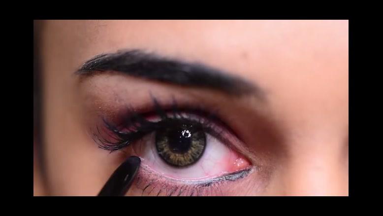 کلیپ کشیدن خط چشم حرفه ای +خط چشم ماژیکی