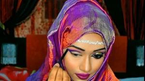 فیلم آرایش مناسب رنگ روسری + اکستنشن مژه