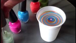 فیلم آموزش طراحی ناخن با آب و لاک + دیزاین ناخن آبرنگ