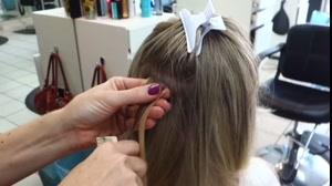 کلیپ آموزش  اکستنشن مو چسبی +آرایش مو با اکستنشن