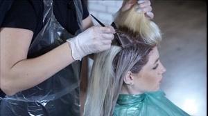فیلم هایلایت کردن مو + رنگ مو دودی