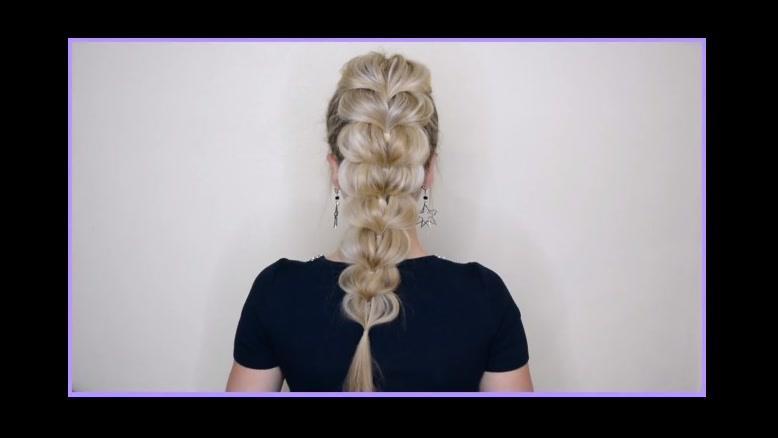 کلیپ  آموزش بافت مو جدید + بافتن مو مدل پری دریایی