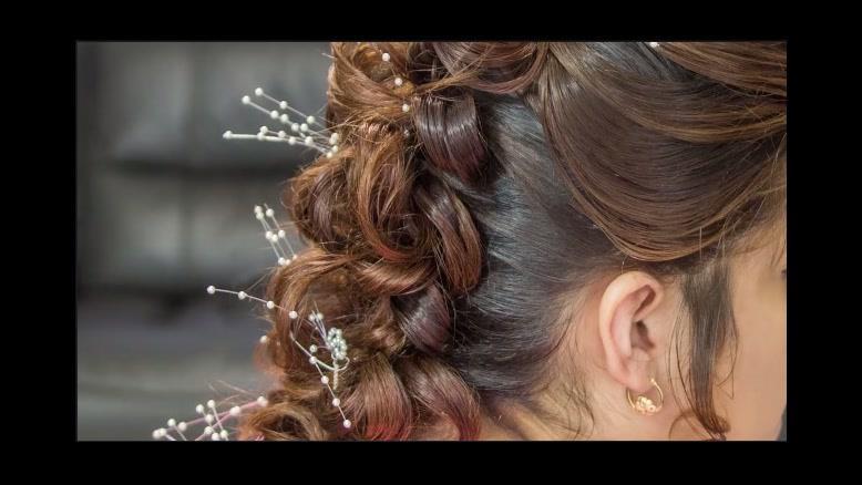 فیلم آموزش شینیون مو عروس با بافت