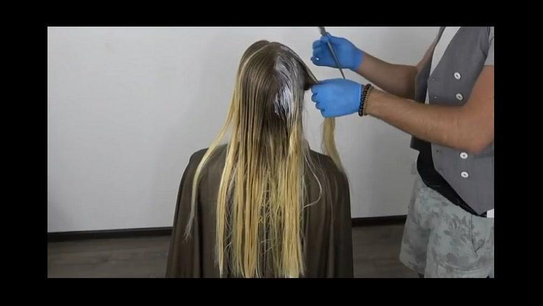 فیلم  شینیون مو باز مدل فر + فر کردن مو