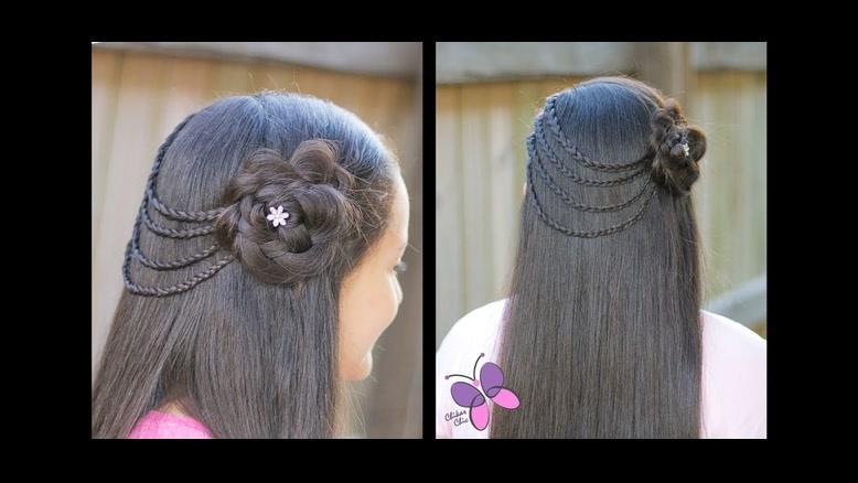 دانلود کلیپ آموزش بافت مو دخترانه + بافتن مو مدل گل