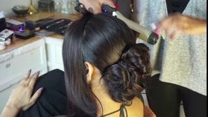 فیلم آموزش شینیون مو عروس  مدل هندی