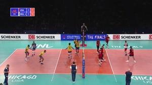 خلاصه بازی والیبال برزیل - آمریکا