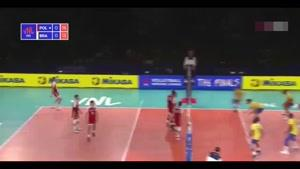 خلاصه بازی والیبال لهستان - برزیل