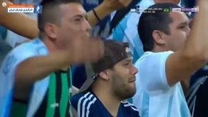 خلاصه بازی برزیل 2-0 آرژانتین مرحله نیمه نهایی رقابت های کوپا آمه ریکا