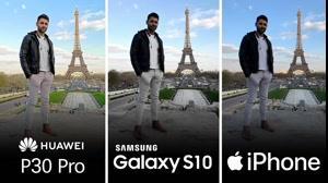 مقایسه کیفیت دوربین گوشی های هوآوی P30 پرو و اس 10 پلاس و آیفون XS Max