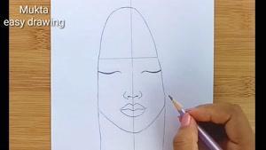 آموزش نقاشی  با طرح دختر غمگین