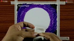 نقاشی چشم انداز مهتابی جغد