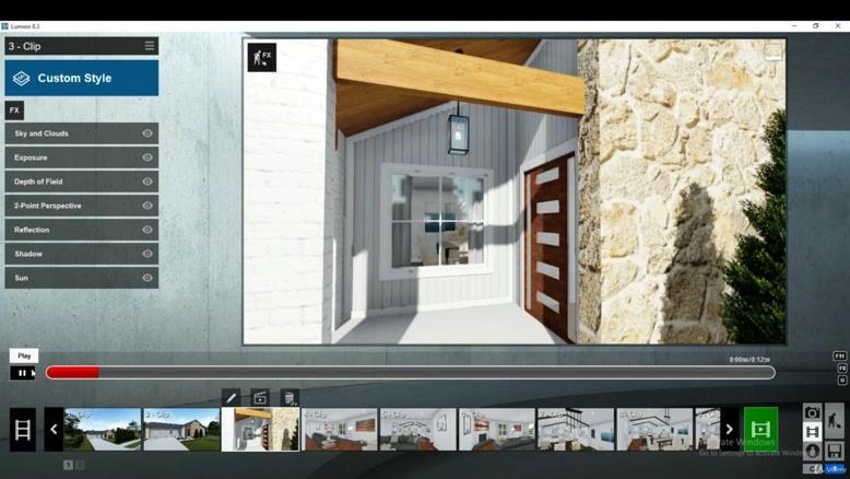 آموزش ساخت انیمیشن معماری در لومیون قسمت هشت