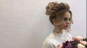 کلیپ آموزش شینیون بالای سر عروس مدل گل رز