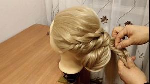 کلیپ آموزش شینیون مو با بافت برای افراد مبتدی