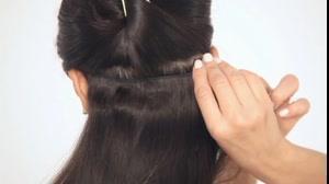کلیپ آموزش اتصال اکستنشن مو با گیره + بلندسازی قد مو