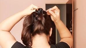کلیپ شینیون ساده و روزانه مو با کلیپس