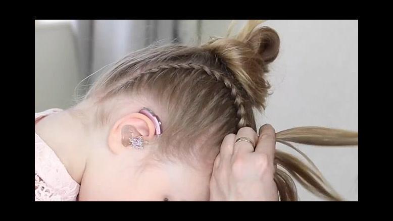 فیلم آموزش شینیون مو دخترانه  با بافت و فر مو