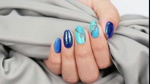 کلیپ دیزاین ناخن بسیار زیبا  با رنگ آبی فیروزه ای