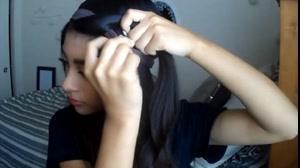 فیلم فرکردن مو با هدبند + آرایش ساده مو