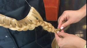 کلیپ آموزش بافت اکستنشن مو + شینیون بافت مو