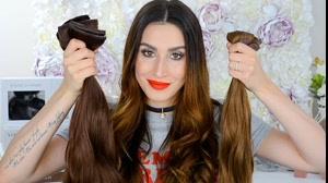 کلیپ خودآرایی مو با اکستنشن مو + بافت اکستنشن مو