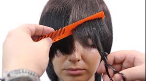 فیلم نحوه کوتاه کردن مو مدل گرد فانتزی